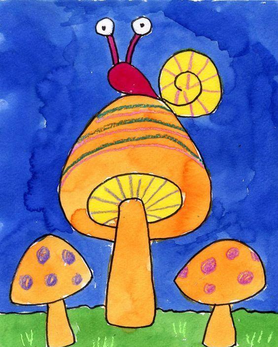 幼儿园创意美术作品:独特的艺术风格,孩子也能图片