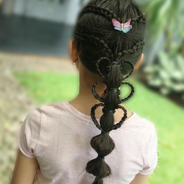 几款简单可爱的儿童编发发型,发量少的小女孩编了也漂亮
