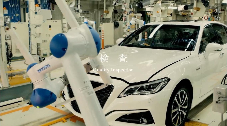 丰田全新皇冠生产全过程,怎么从一块钢板造成一辆车!