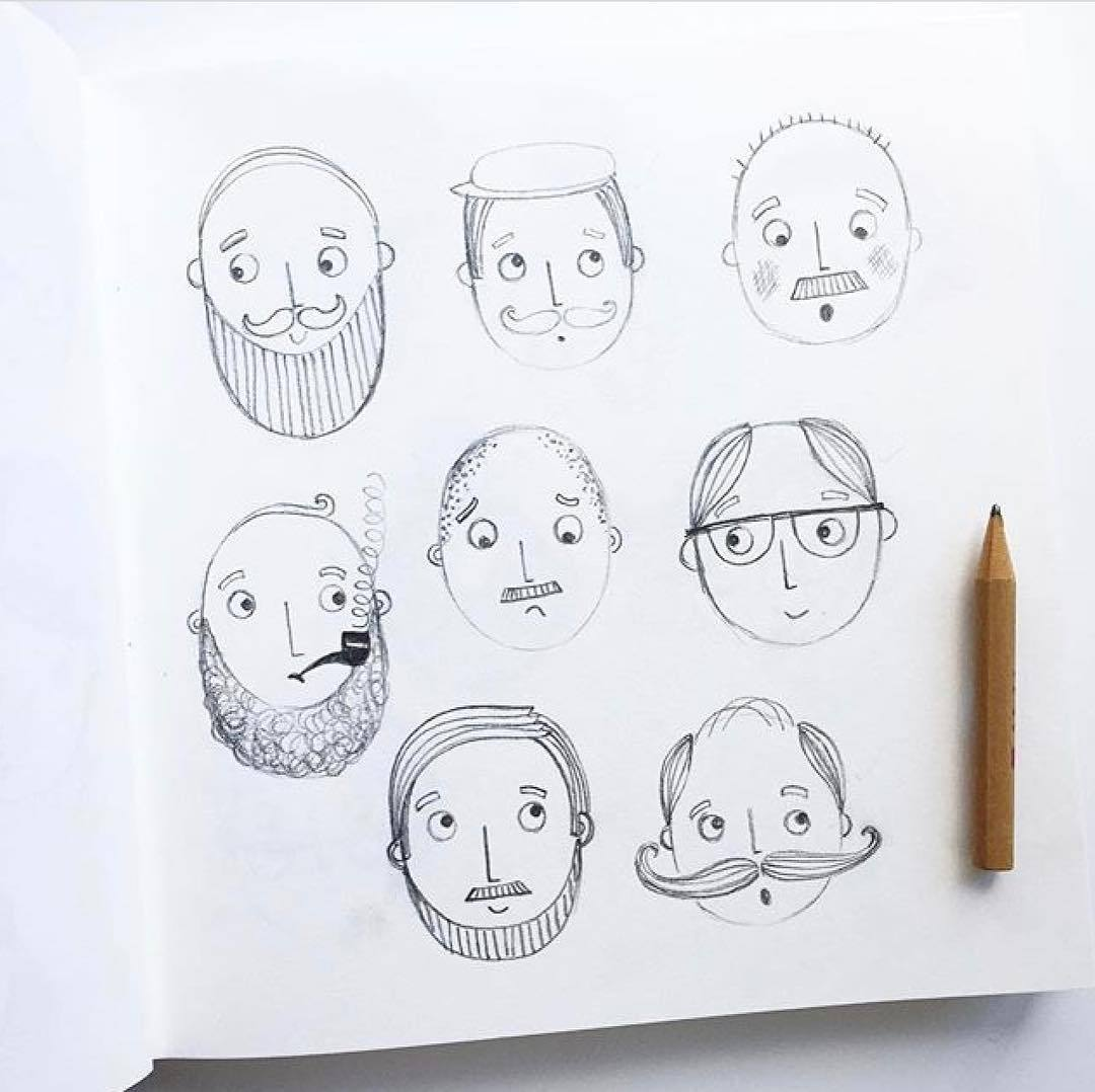 动有趣的卡通头像铅笔画一只铅笔就能画可爱小人儿赶快学起来~作者ins