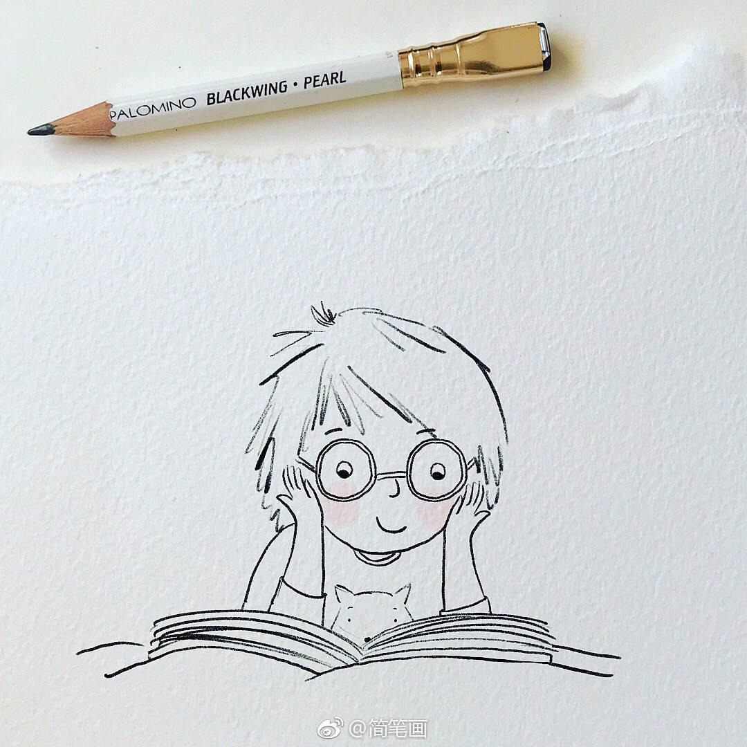 可爱简单的童趣铅笔画(by:alexandra macvean)