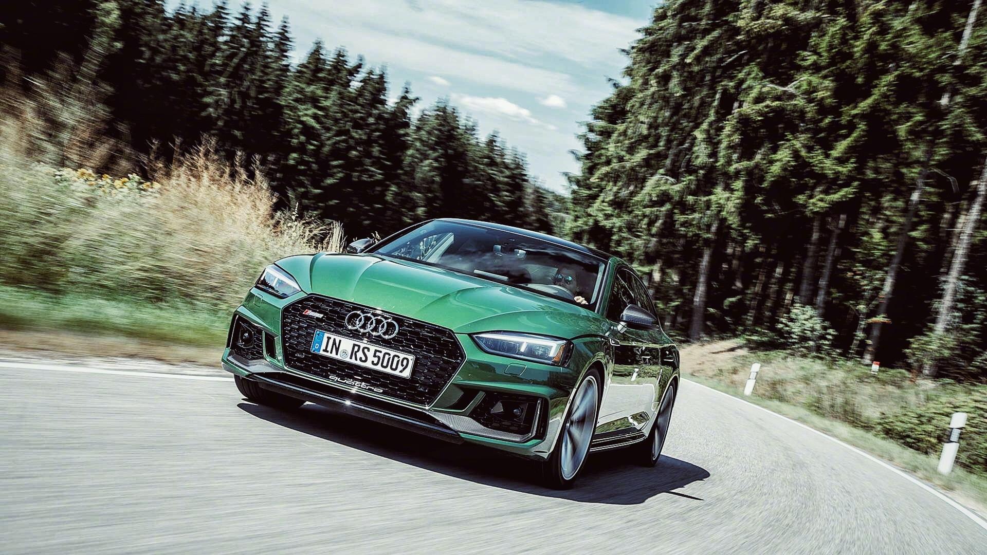 奥迪RS5的一抹绿
