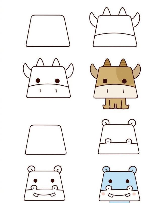 教宝宝简笔画小动物,又简单又可爱非常宝宝学起来非常