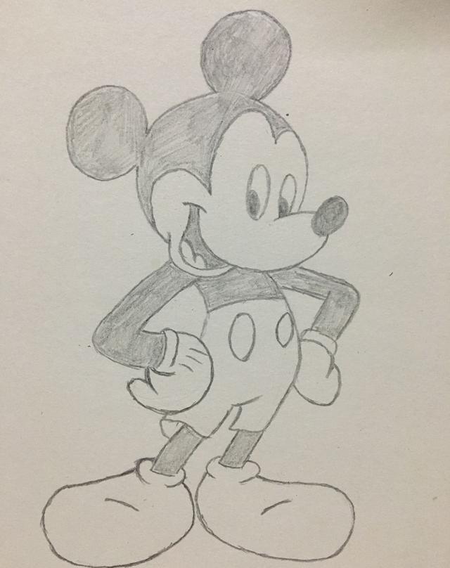 简笔画——米奇的画法图片