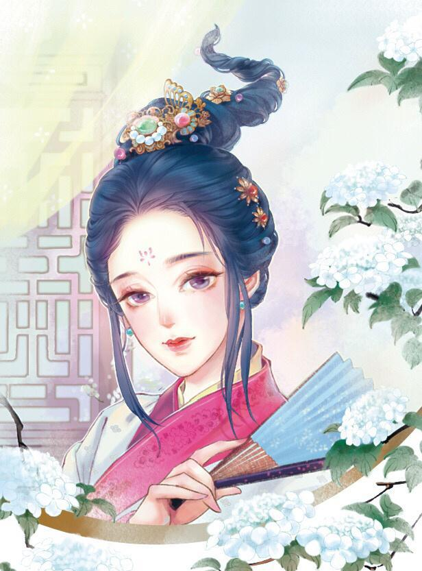 古風手繪美人圖:萬里江山不如你眉間一點朱砂