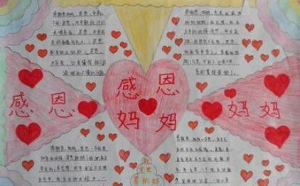 2018年小学生母亲节手抄报作品展,用手绘来表达对妈妈
