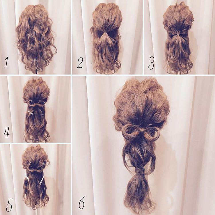 看这些图解,直发卷发都能编漂亮的发型