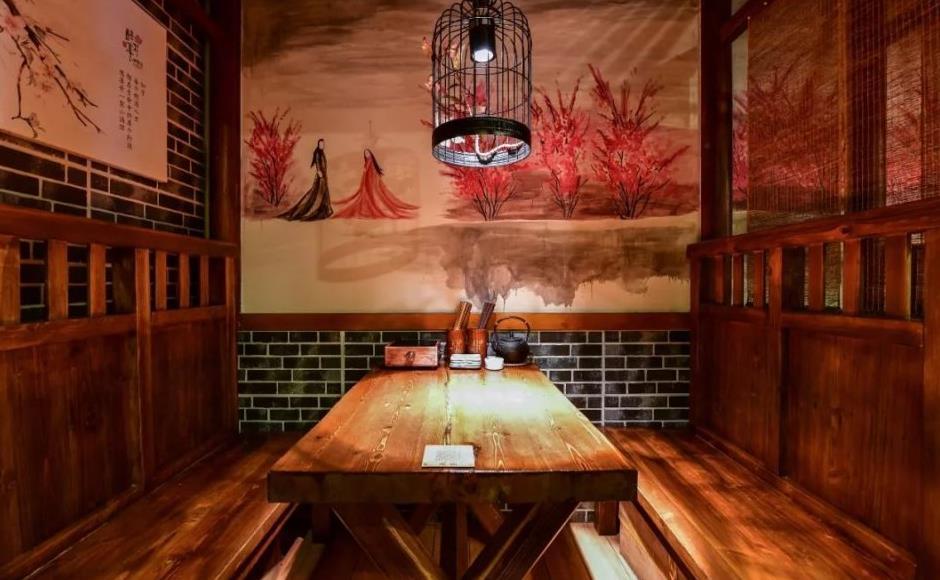 酒馆室内装修手绘图