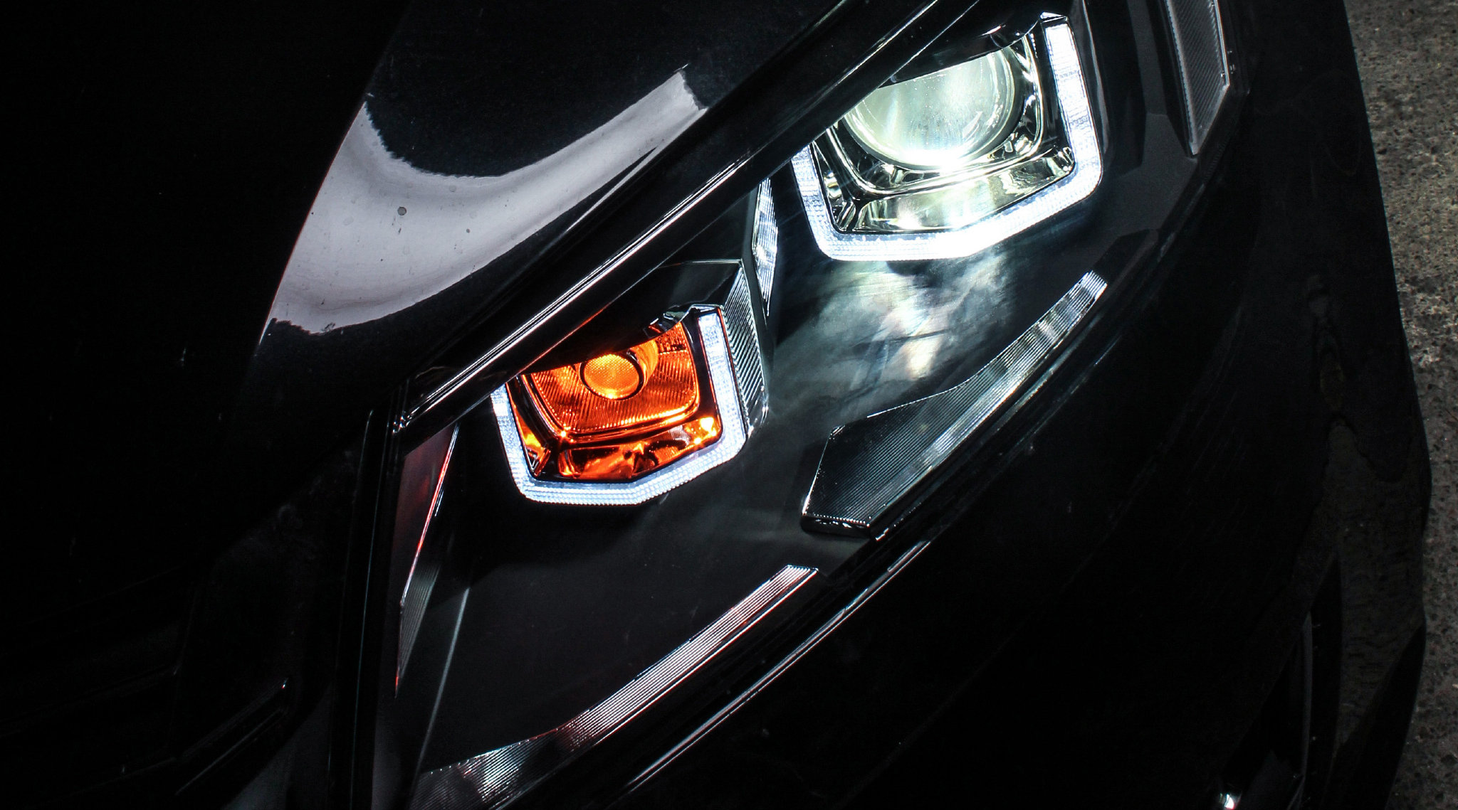 大众朗逸 双U大灯氙气大灯设计北京改灯解灯坊老白  德系车   