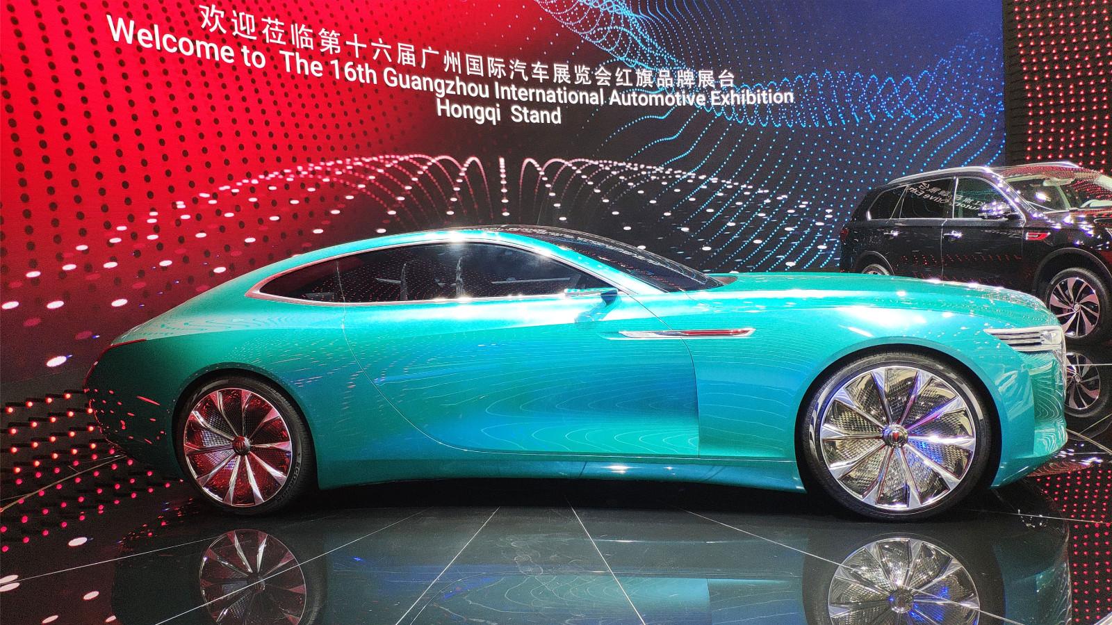 广州车展:红旗红旗E·境GT概念车实车