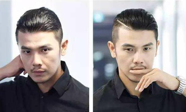 两边剃段头顶烫的背头_两侧剃光的侧背头和斜刘海格式比照:无论是侧分背头仍是斜刘海直发