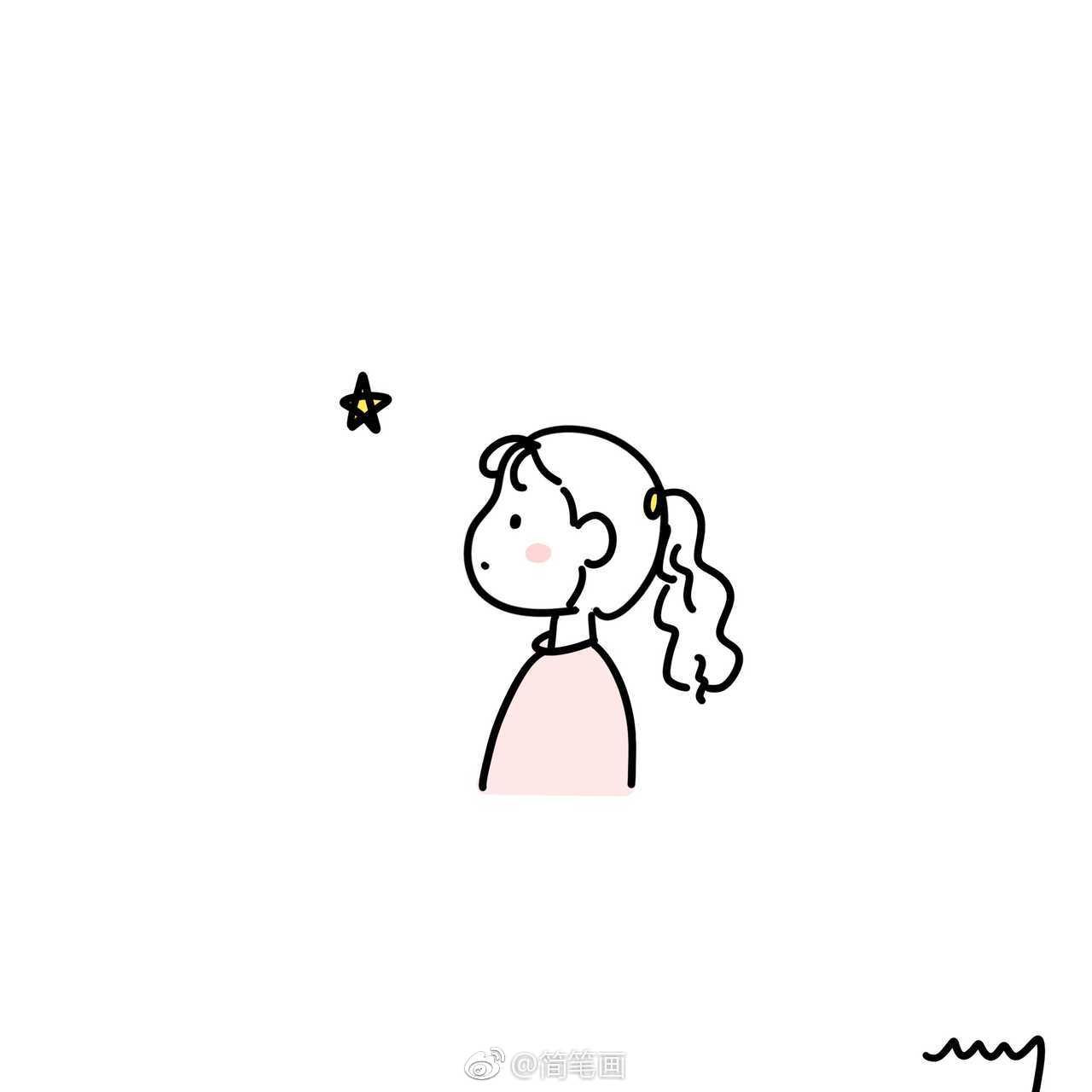 可爱的简笔画小女孩头像(作者:faith-wy- )