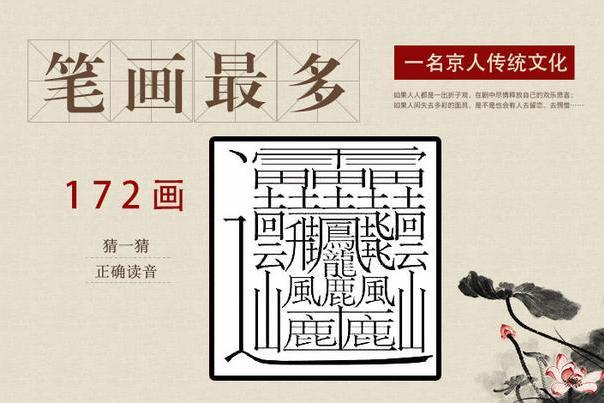 笔画最多的繁体字,还有个172画的字,汉字博大精深图片