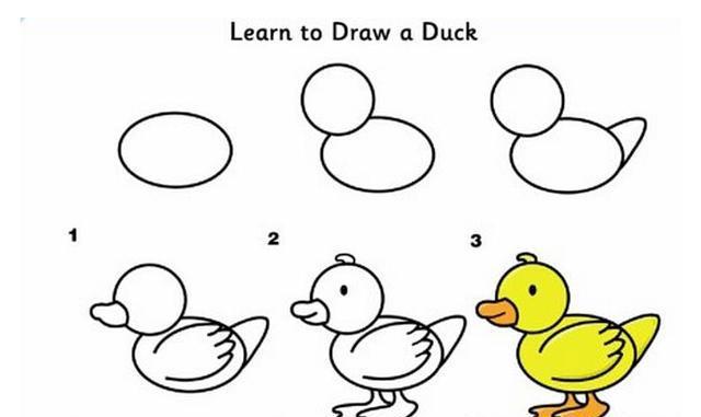 简单易学的儿童简笔画大全教程,各种可爱小动物的多种图片