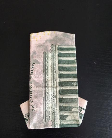 钞票折纸衣服教程再次升级 打领带的衬衣叠法