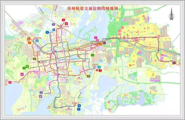 苏州轨道交通第三期建设规划获批 6,7,8号线及s1线获准建设图片
