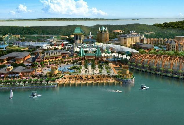 二,圣淘沙岛 圣淘沙岛是一座位于新加坡南部的岛屿,是闻名一世的第二