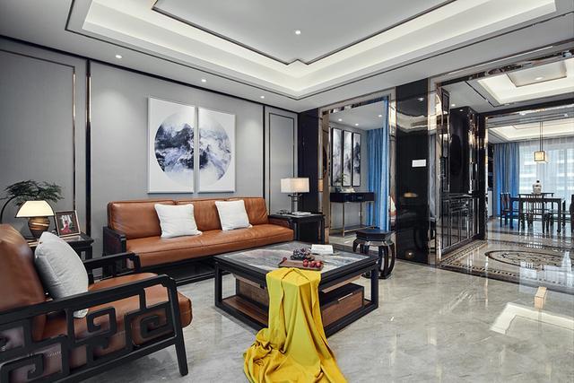 208㎡轻奢新中式风格公寓装修,三代同堂其乐融融
