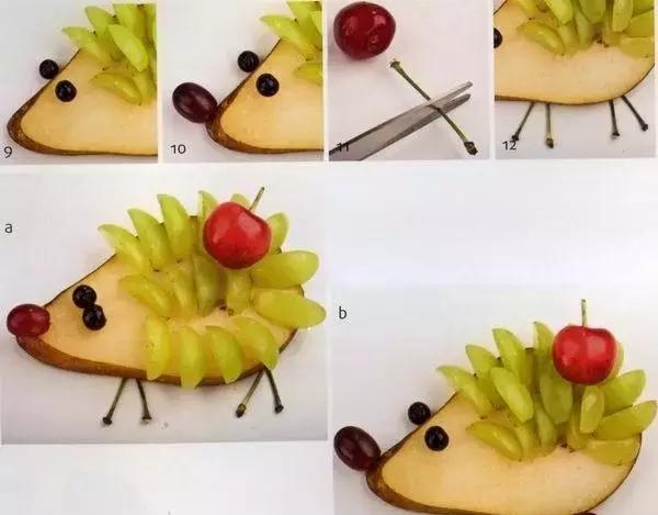 简单易学的卡通水果拼盘图片