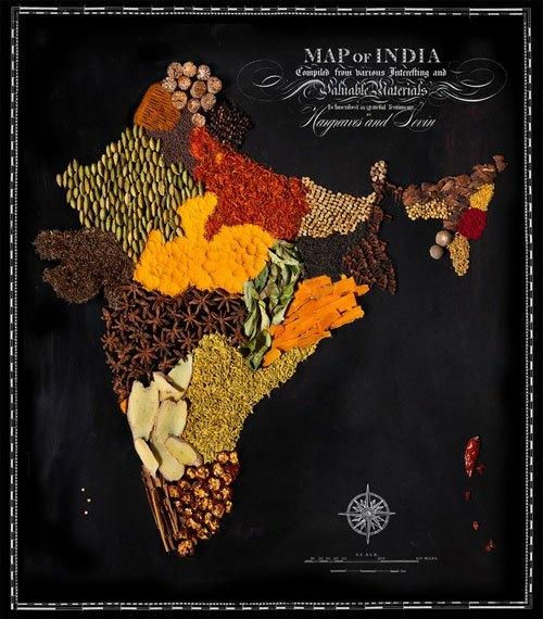 国家美食地图 | 各国美食创意海报设计图片