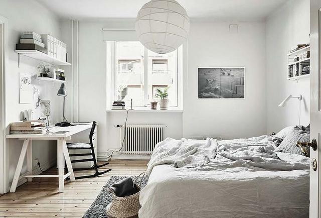 极简黑白北欧风格卧室装修效果图 总有一款适合你