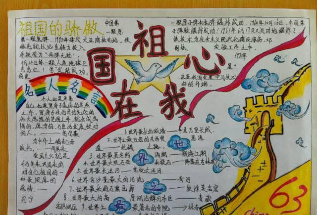 小学生国庆手抄报黑板报大全:48个精美爱国创意,欢度