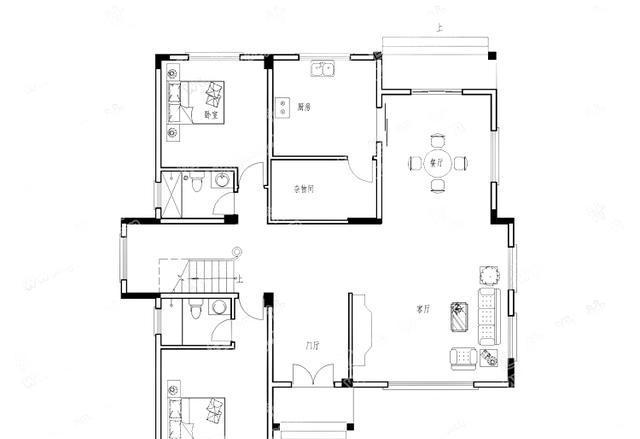 农村小别墅设计图-农村三层自建房子设计图-小别墅