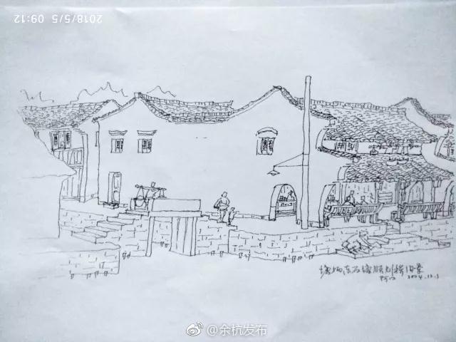 家乡图片手绘儿童