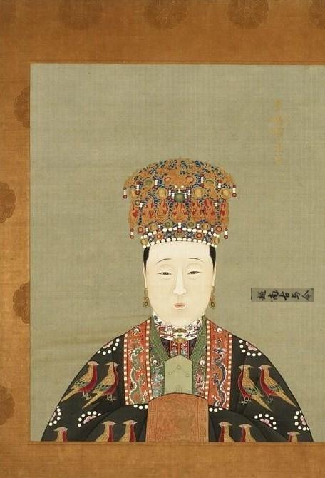 实拍故宫明朝皇后画像:图一是大脚马皇后,图七是史上最幸福皇后图片