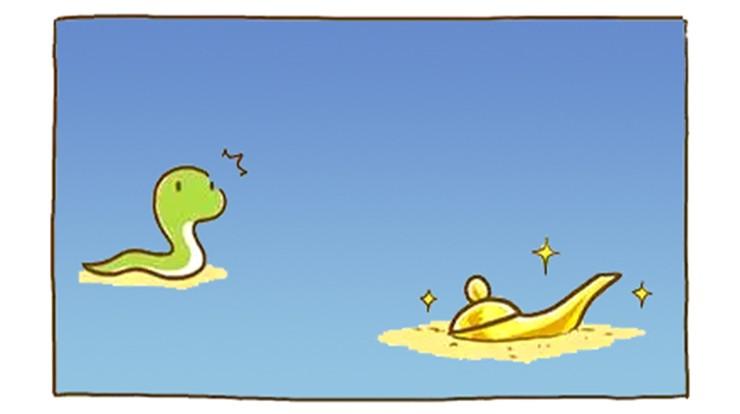 恶搞沙漠:蛇在漫画捡到一个阿拉丁神灯a沙漠韩国性污漫画游戏图片