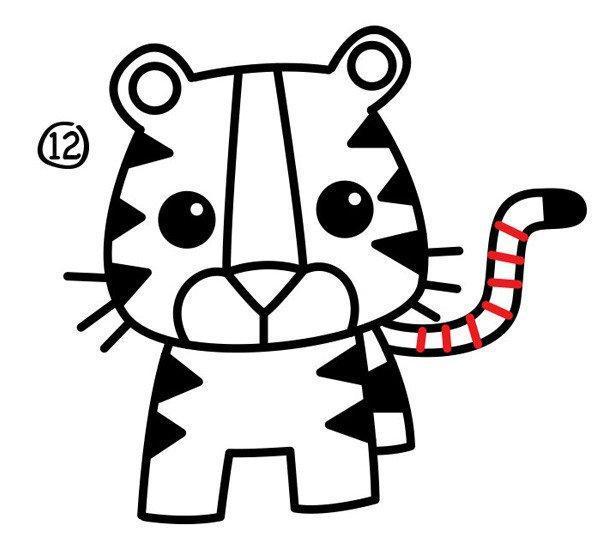 卡通可爱小象简笔画