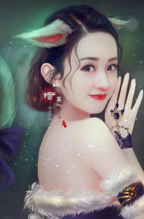 赵丽颖手绘造型,性感撩人,诱惑十足,网友:你怎么可以