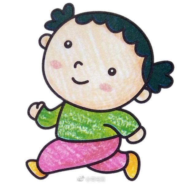 儿童简笔画人物小合集,家里有小朋友的马住