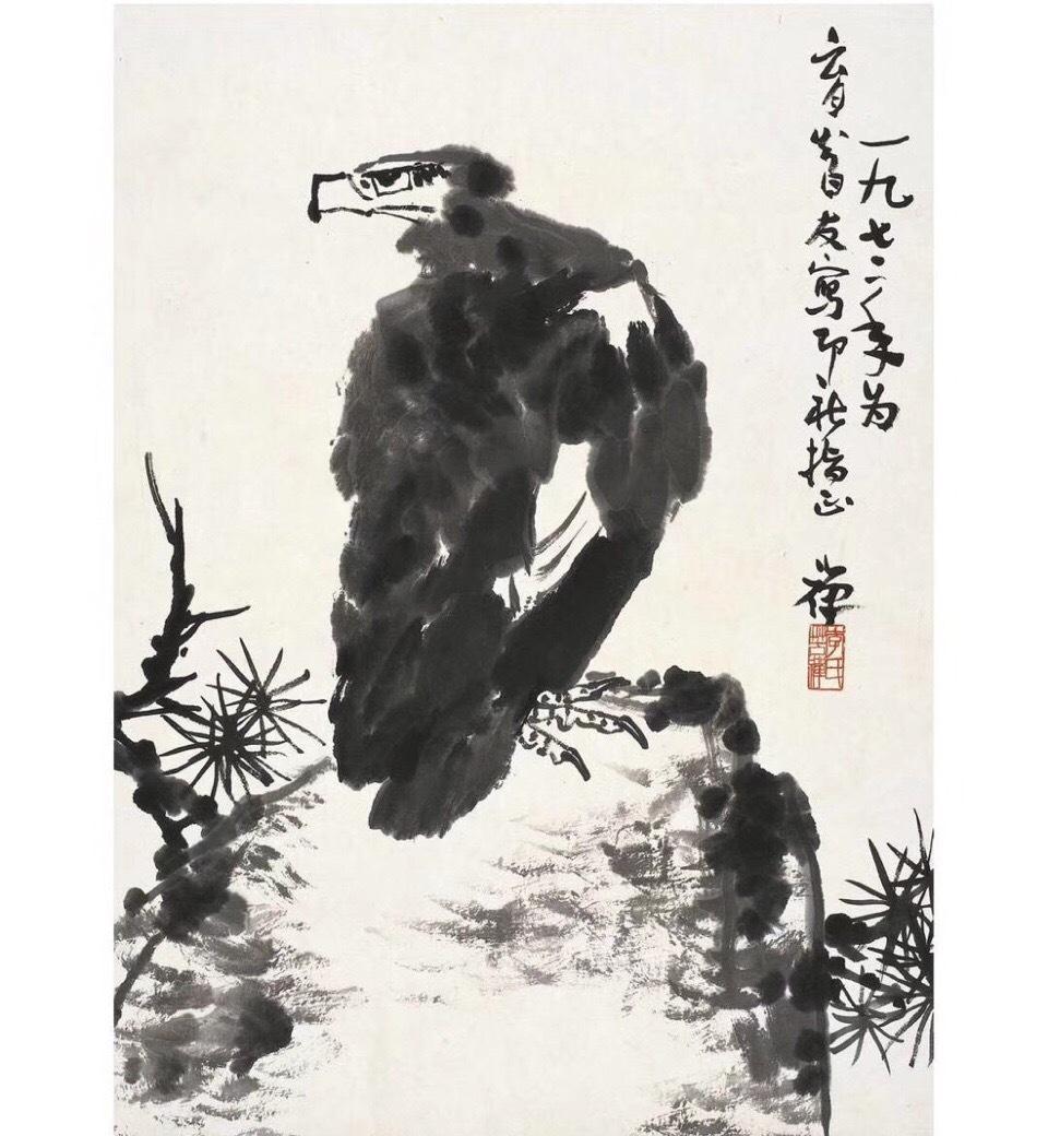 李苦禅,鹰图片