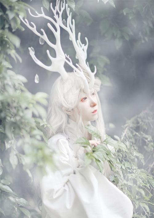 古典古装汉服襦裙唐装复古唯美摄影古风精灵cosplay树林写真自拍