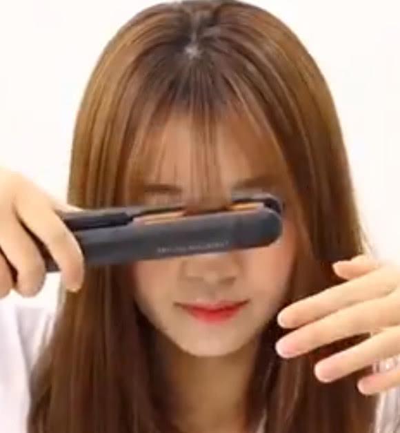 空气刘海自己在家就能剪,不想要还能隐形,超简单的剪发教程!图片