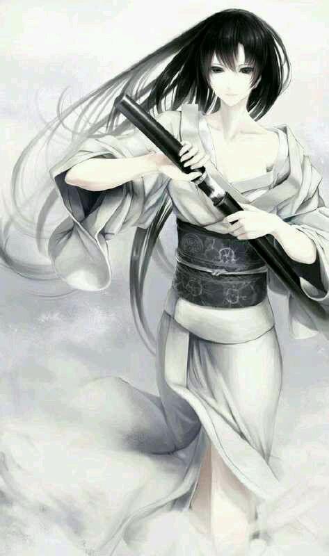古风手绘女剑客