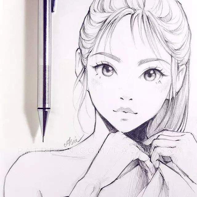 90后美女的小清新二次元动漫手绘,不能错过!