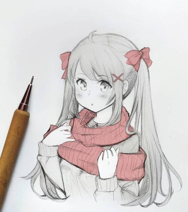 自动铅笔手绘小姐姐线稿,喜欢哪一个