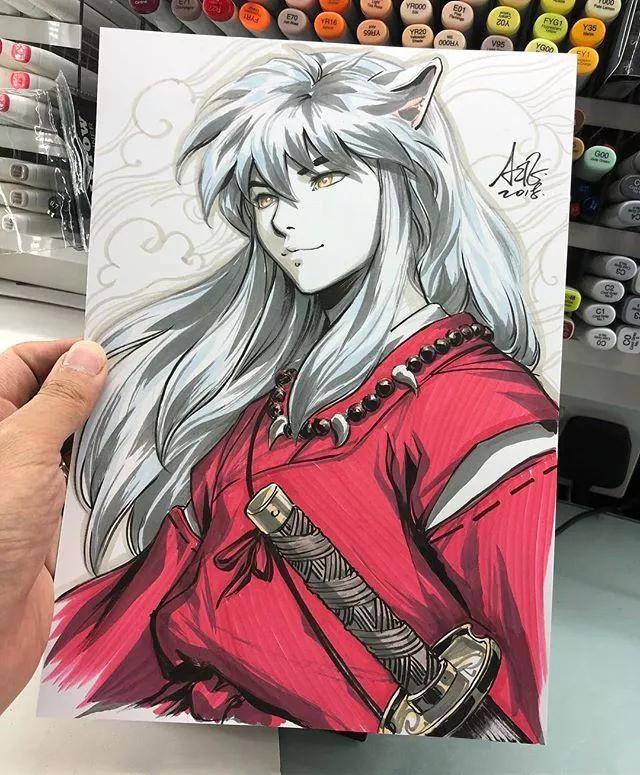 马克笔手绘动漫人物,出自新加坡华裔漫画大神artgerm之手