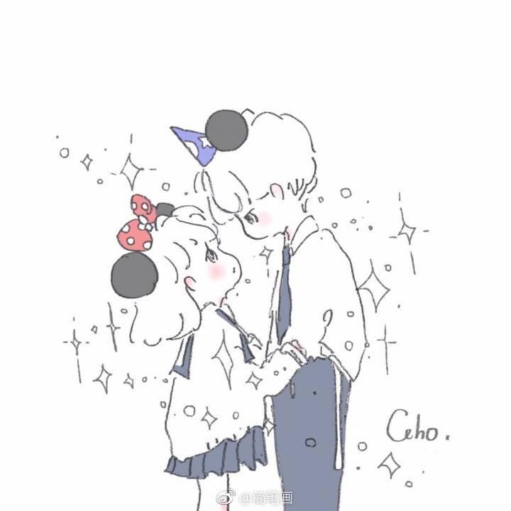 超甜的少女心简笔画(by:caho)_新浪看点