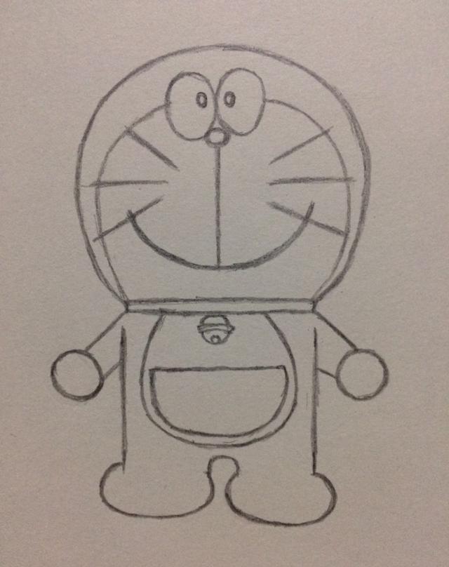 简笔画——哆啦a梦的画法