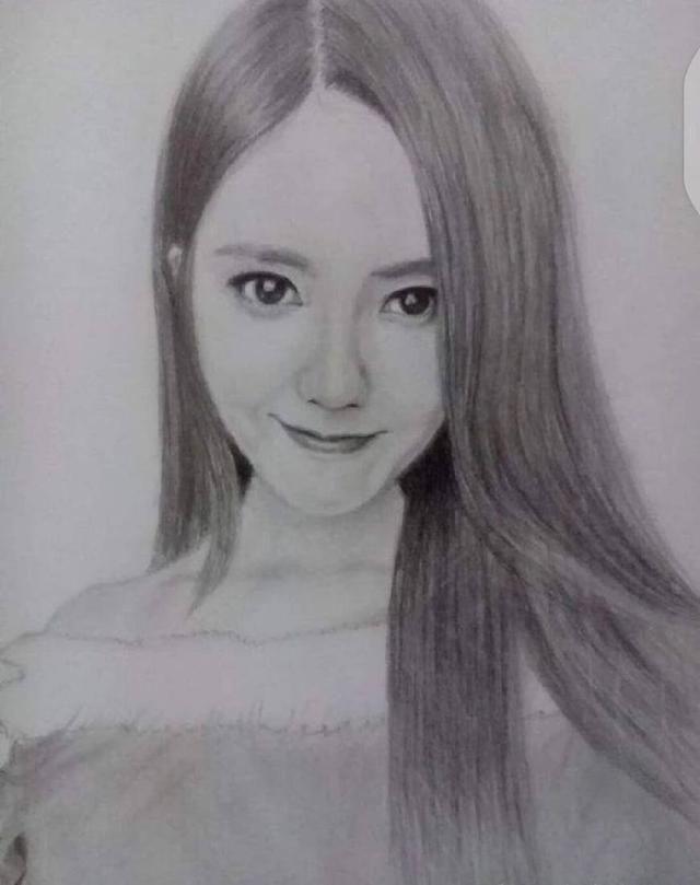8位当红女艺人的素描画, 唐嫣最媚, 杨幂最美, 赵丽颖