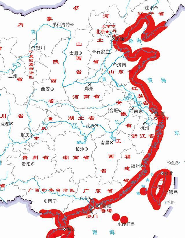 中国海岸线总长全球第四!来看看1970年到如今
