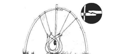 捕猎绳套制作图解