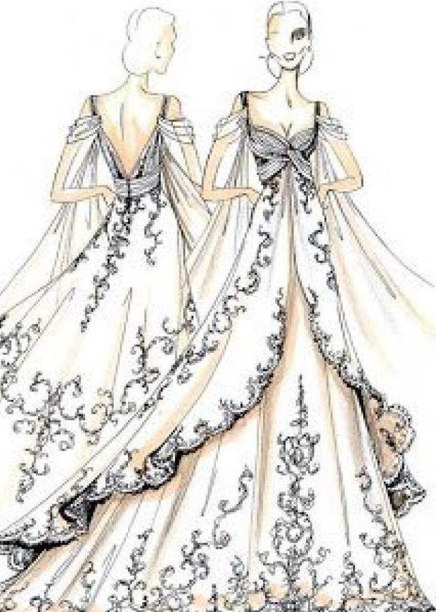 十二星座手绘礼服,白羊座的优雅美丽,金牛座的高端