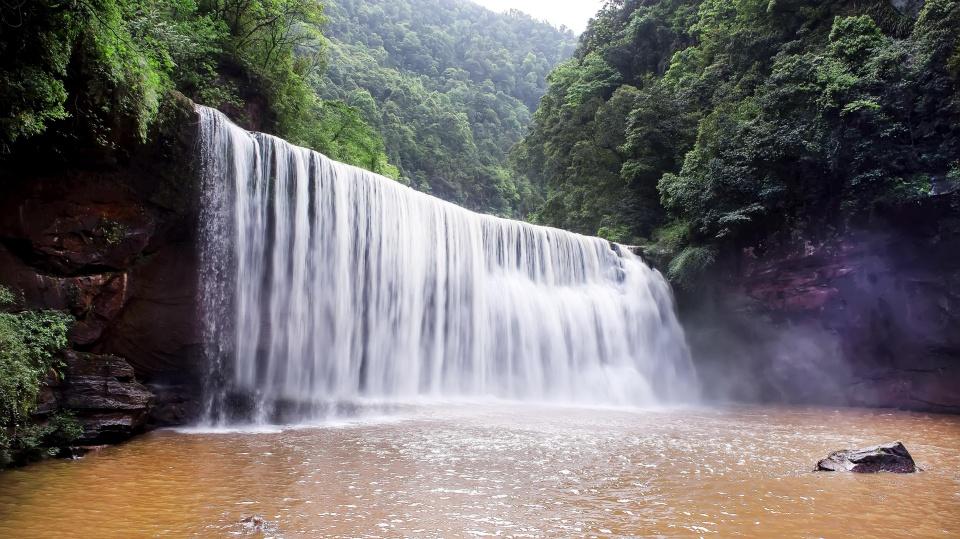 """告别十丈洞美人,乘观光车下瀑布2公里,这里誉为被当地人见到""""行约13史上攻略图片"""