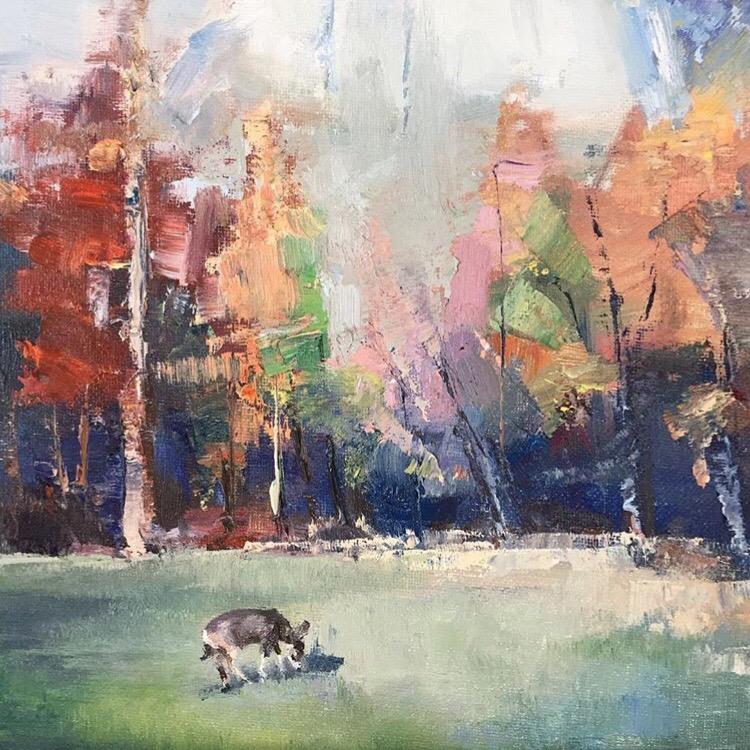 来自 的油画风景写生作品 | 每一幅风景都有一个难忘的回忆 .