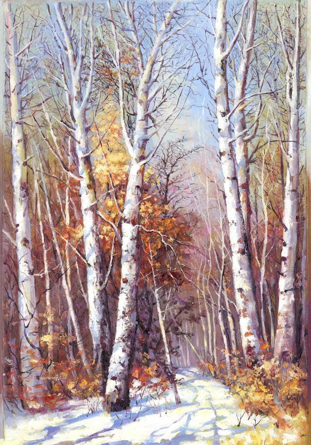 当代风景油画临摹作品,水平绝对大师级别(赠超高清原件50幅)