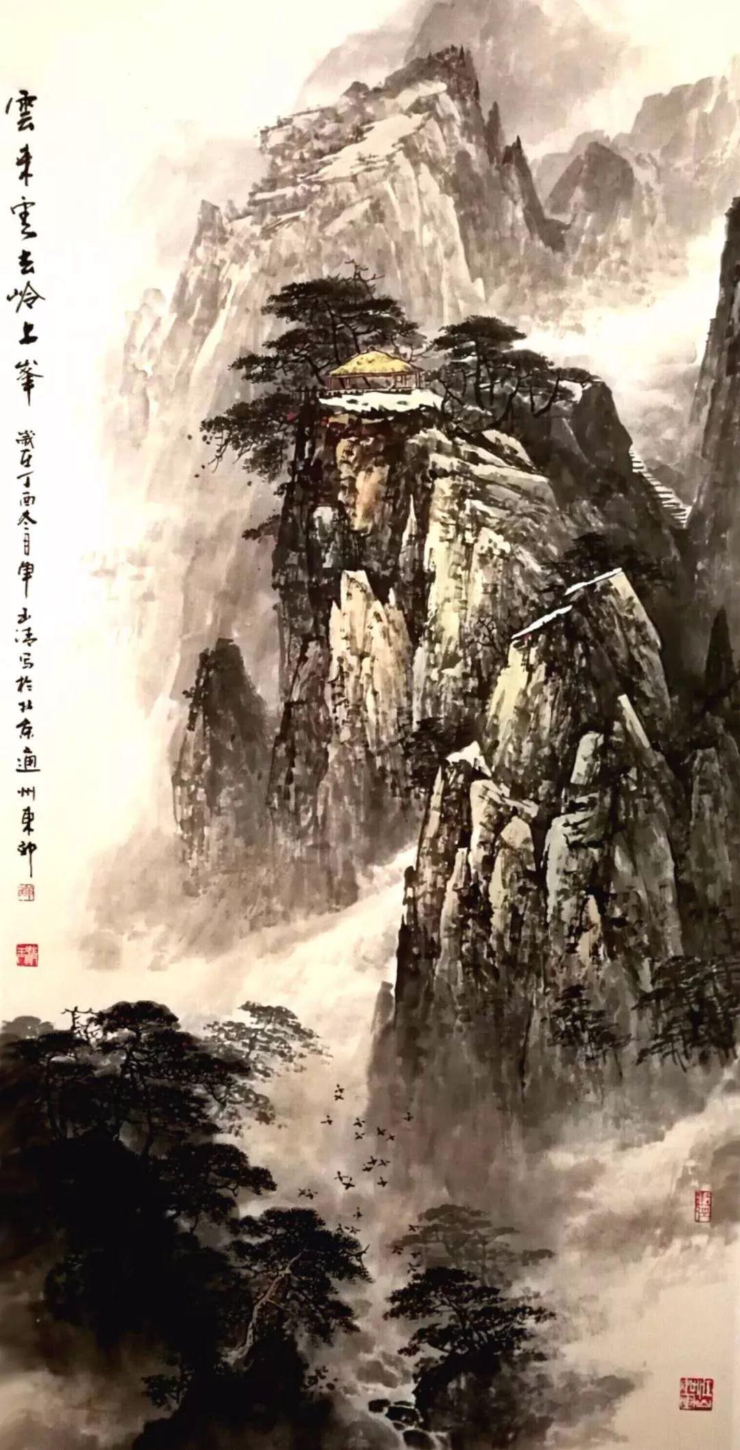 单玉清 幽远高雅的意境山水画